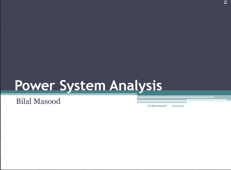 power system analysis and design j duncan glover solution manual