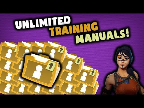fortnite training manual how to get