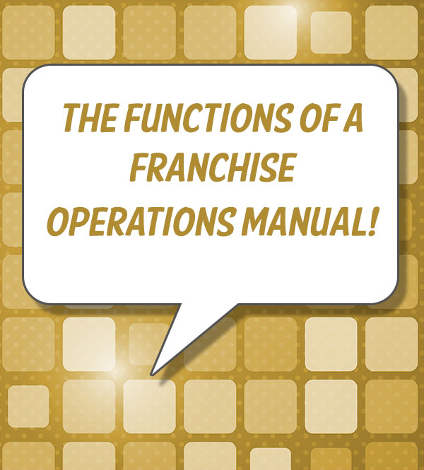 franchise operations manual table of contents