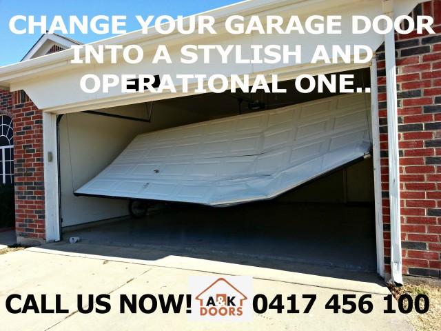 garage door won t open manually