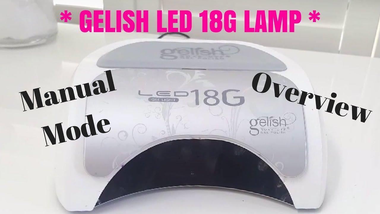 gelish 18g led lamp manual