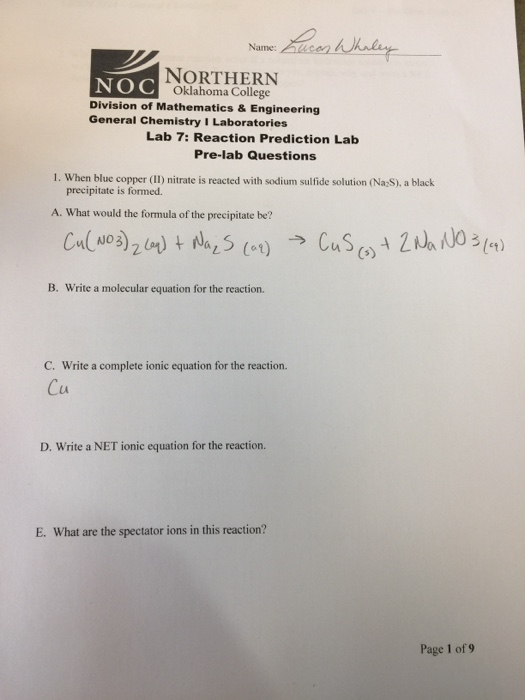 general chemistry 1 lab manual answers