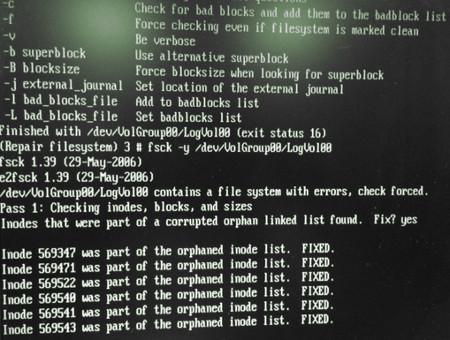 how to run fsck manually