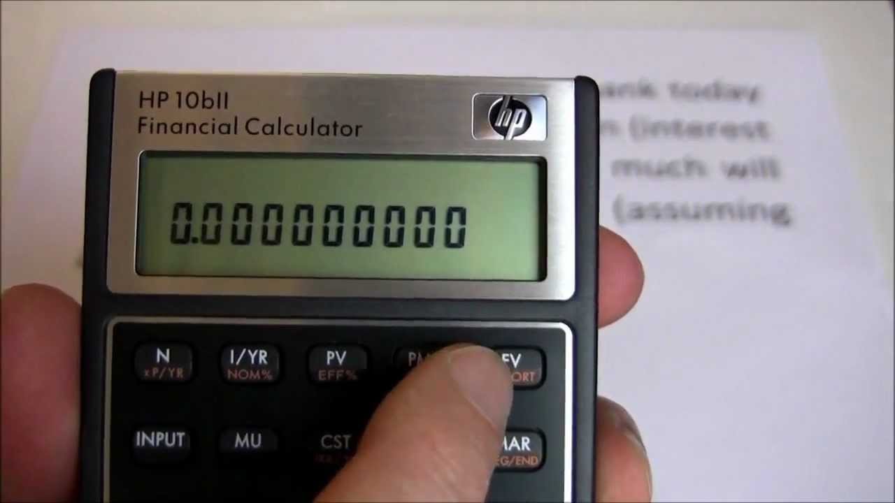 hp 10bii financial calculator manual