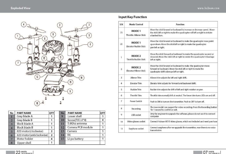 hubsan x4 h107l manual pdf