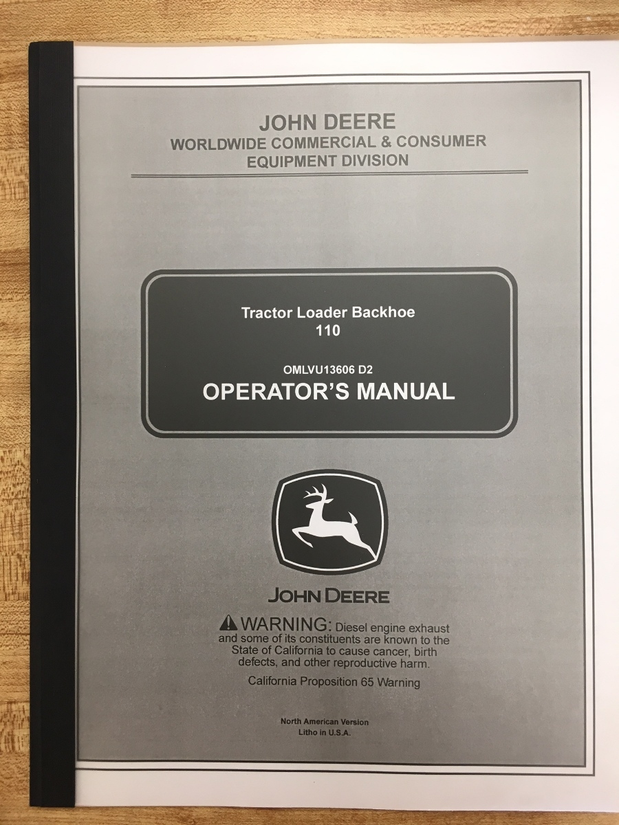 john deere 110 operators manual pdf