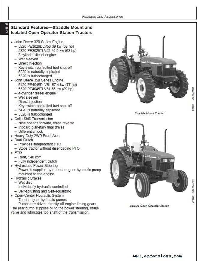 john deere 5420 parts manual