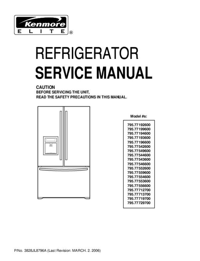 kenmore refrigerator repair manual pdf
