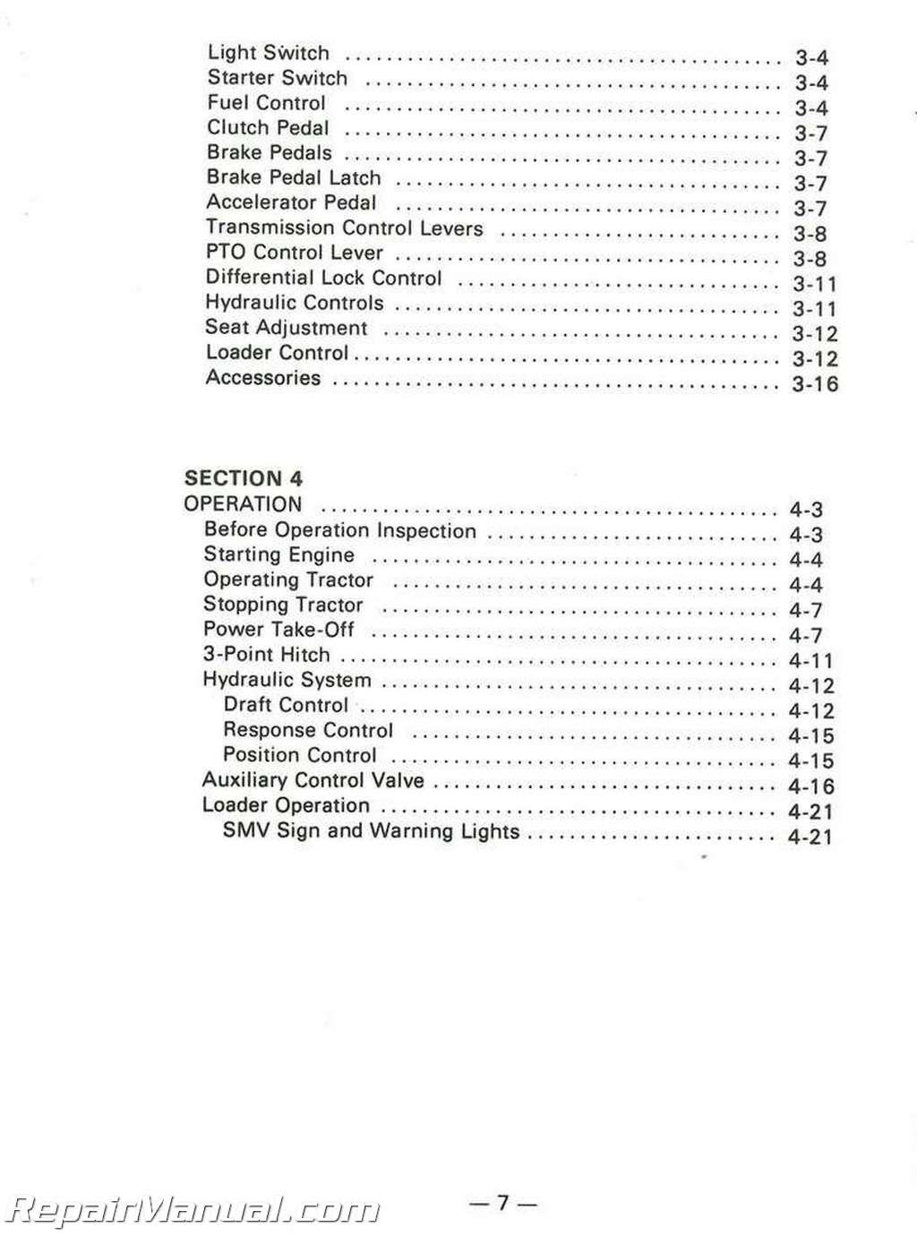 massey ferguson 35 operators manual