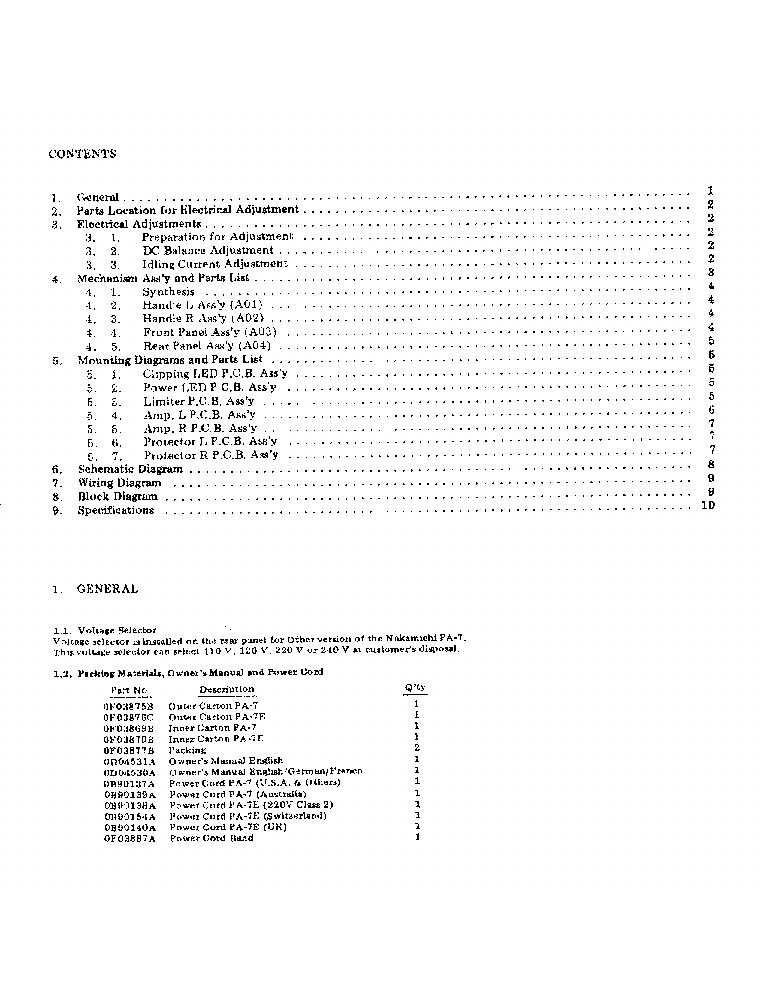 nakamichi pa 7 service manual