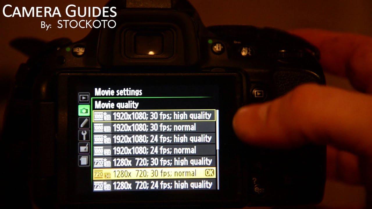 nikon d5200 manual movie settings
