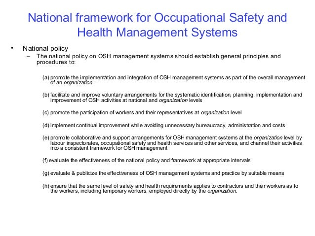 occupational health and safety management system manual