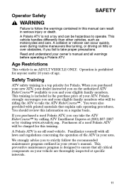 polaris hawkeye 300 service manual