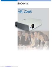 sony vpl cx76 projector manual