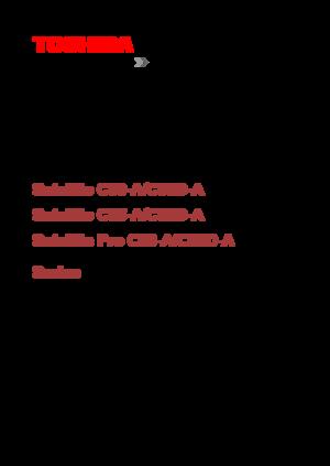 toshiba satellite c50 service manual