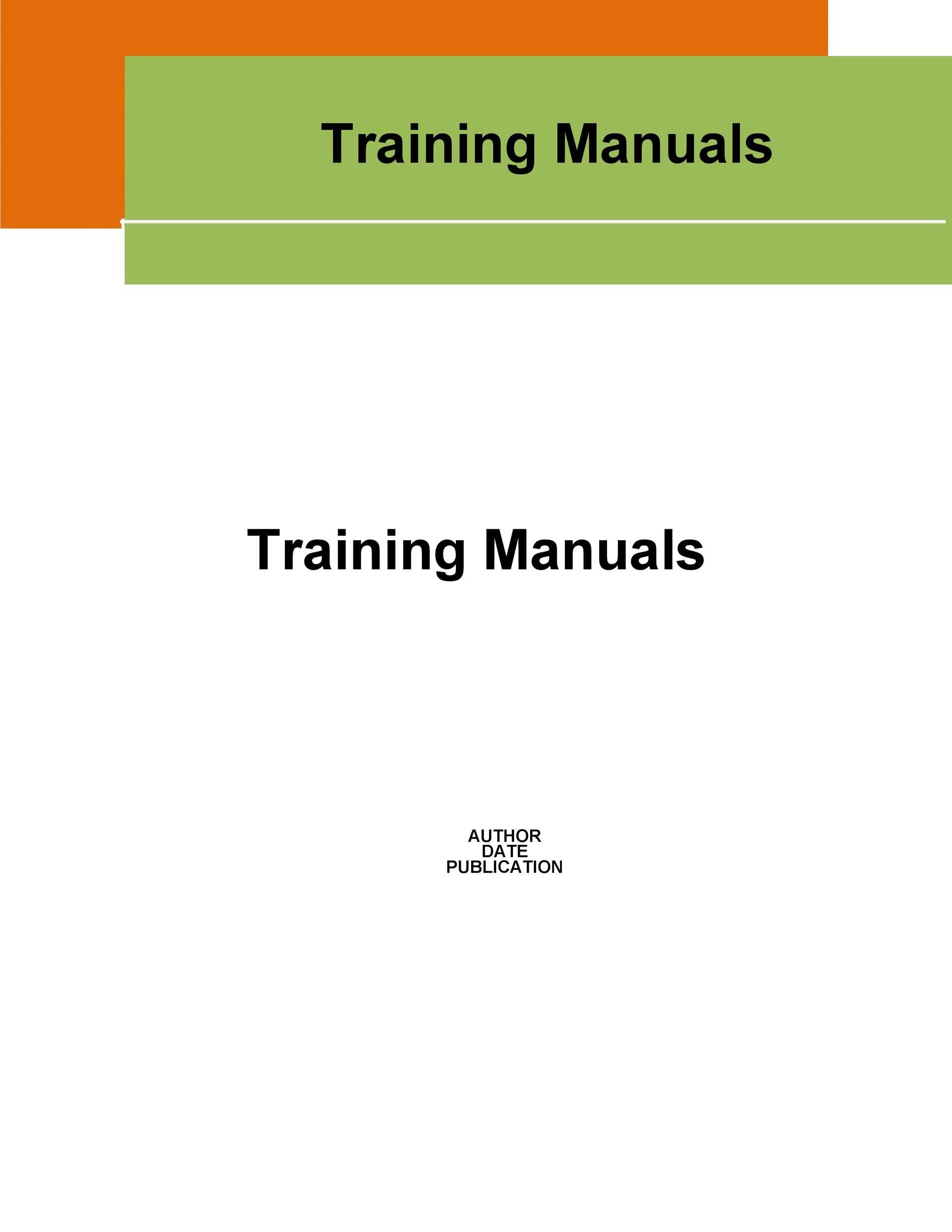 training manual template word free