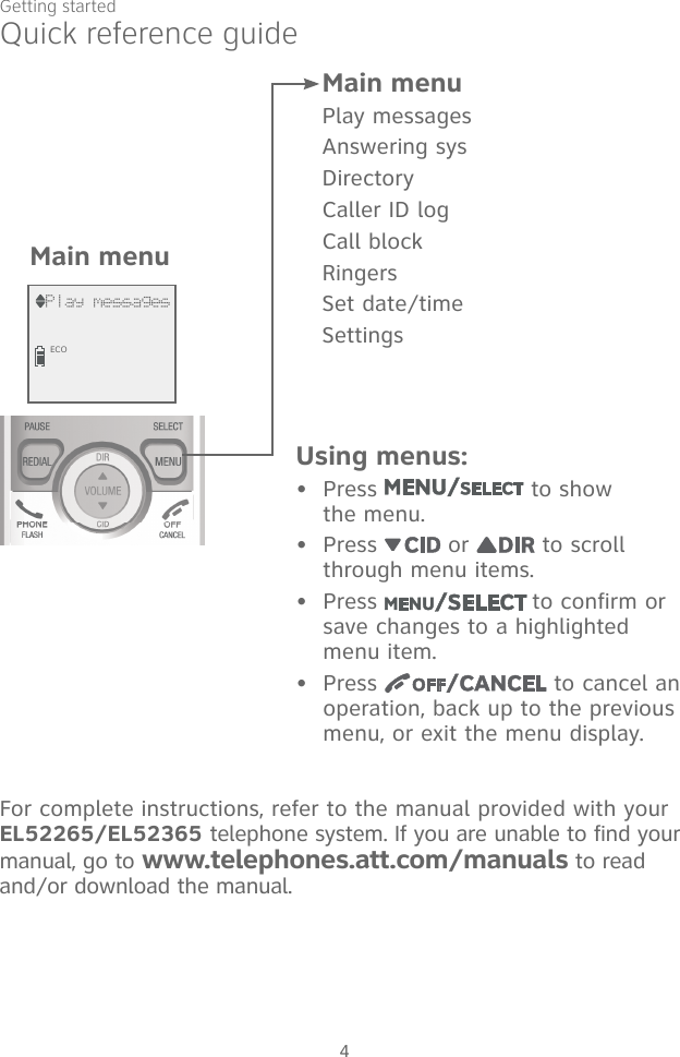 vtech telephone dect 6.0 manual